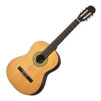 Martinez Full Size Beginner Classical Guitar (Natural Satin)