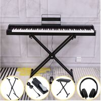MAESTRO 88 HAMMER ACTION PORTABLE DIGITAL PIANO MDP1200 BLACK ( H/PHONE DELUXE PACK inside )