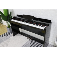 MAESTRO 88 HAMMER ACTION COMPACT DIGITAL PIANO POLISHED BLACK MDP500PB ( H/PHONE DELUXE PACK inside )