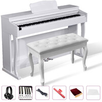 Maestro Digital Piano 88 Hammer Action Intelligent Keyboard Polished White ( H/PHONE DELUXE PACK inside )