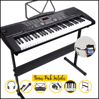 Maestro Keyboard with Stand, headphone, microphone bundle
