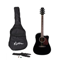 Martinez Acoustic-Electric Dreadnought Cutaway Guitar Pack (Black)