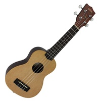 Mojo '50 Series' Solid Spruce Top Electric Soprano Ukulele with 'Bird' Graphic