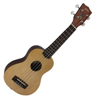 Mojo '50 Series' Solid Spruce Top Electric Soprano Ukulele with 'Skull' Graphic