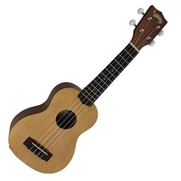 Mojo '80 Series' Solid Spruce Top Soprano Ukulele with Gig Bag