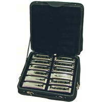 JOHNSON 12 HARMONICAS & BAG