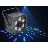 LED Effect Six Lenses Moving Beams 1x9W RGB LED DMX