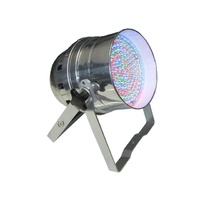 LED Par 64 RGB DMX 30W 183 LEDs - Polished: Piggy Back Plug, double yoke, digital display - polished