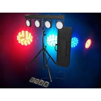 LIGHT EMOTION LED Par Bar 432 LEDs comes with stand, foot contoller, bag.