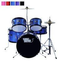 Sonic Drive 5-Piece Junior Drum Kit for Kids