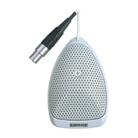 Shure SHR-MX391WC Microphone Condenser LoZ White Mini Boundary Half Cardioid With RK100PK In-Line Preamp