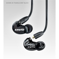 Shure Stereo In-ear Black Earphones, Sound Isolating, Enhanced Bass & RMCE-UNI Cable