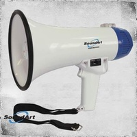 SoundArt 10 Watt Portable Hand-Held Megaphone with 10 Second Record/Playback