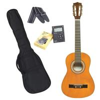Sanchez 1/4 Size Beginner Classical Guitar Pack (Amber)