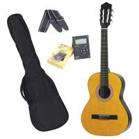 Sanchez Left-Handed 3/4 Size Beginner Classical Guitar Pack (Natural Gloss)