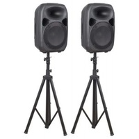"SKYTEC SPS122 12"" POWERED SPEAKER SET"