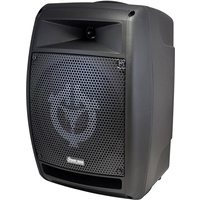 "Chiayo StageMan 150 watt (100 watt RMS) 8"" full range, portable PA system with built-in Bluetooth/SD/USB Player Recorder. With 1 x Wireless Receiver"