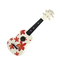 Sanchez Hawaiian White Floral Ukulele