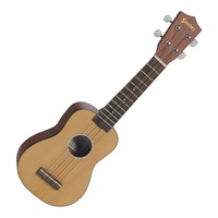 Sanchez Solid Cedar Top Soprano Ukulele with Polyfoam Case