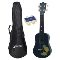 Sanchez Blue Hawaiian Pineapple Ukulele Pack