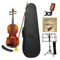 MAESTRO Violin Set 3/4 includes Shoulder Rest, Music Stand, Digital Tuner, Strings and Gift Box