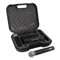 SoundArt SWS-290MM Dual Channel Hand-Held Wireless Microphone Set with Case & 2 Mics