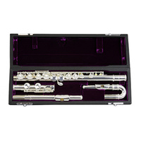 TJ-3041CDEW Trevor James 10X Mk IV Flute, Silver Plated, Curved & Straight Headjoints first thumb image