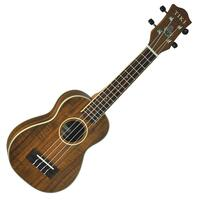 Tiki '9 Series' Solid Top Koa Wood Soprano Ukulele with Hard Case