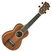 Tiki '5 Series' Solid Mahogany Top Soprano Ukulele with Hard Case