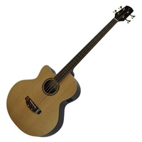Timberidge '4-Series' Fretless Left-Handed Acoustic-Electric Cutaway Bass Guitar with Gig Bag