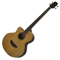 Timberidge '4-Series' Left-Handed Acoustic-Electric Cutaway Bass with Hard Case