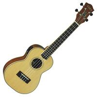 Tiki '6 Series' Solid Spruce Top Electric Concert Ukulele with Hard Case