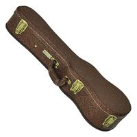 Tiki Deluxe Brown Paisley Soprano Ukulele Hard Case (Paisley Brown)