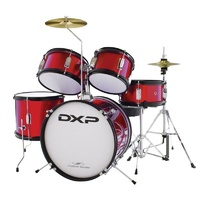 DXP 5 PCE JUNIOR DRUM OUTFIT WINE RED-