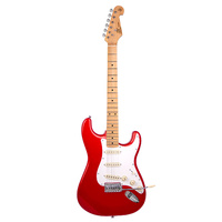 ESSEX Vintage style electric guitar. Candy apple red.