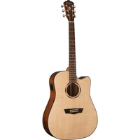 Washburn LD10SCE Woodline 10 Dreadnought Acoustic-Electric Guitar w/ Cutaway & EQ