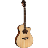 Washburn LO10SCE Woodline 10 Orchestra Acoustic-Electric Guitar w/ Cutaway & EQ