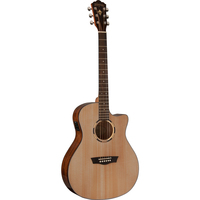 Washburn LO11SCE Woodline 10 Orchestra Acoustic-Electric Guitar w/ Cutaway & EQ