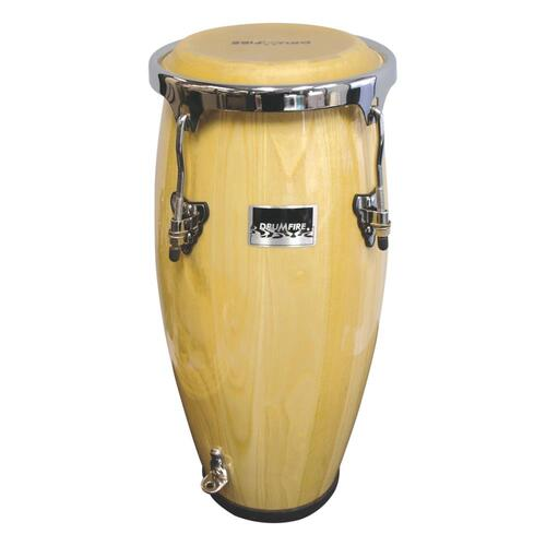 Drumfire Junior Conga Drum with Carry Strap (Natural Gloss)