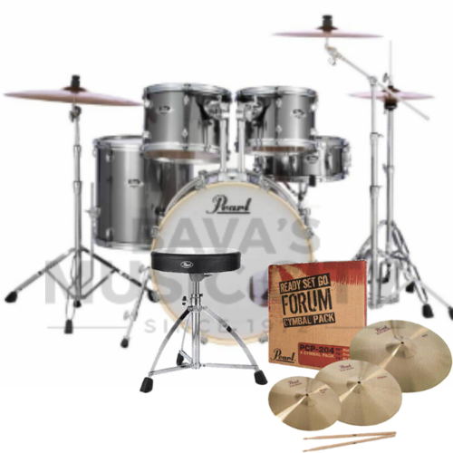 "PEARL EXPORT EXX SERIES 22"" RSG PACK ROCK KIT SMOKEY CHROME"