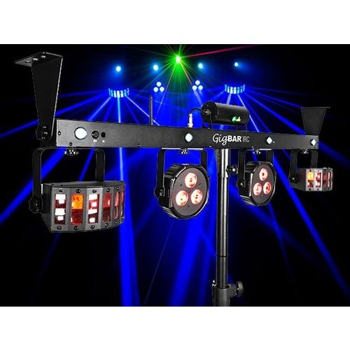 DJ Gig Bar 4 in 1 light with 2 Derbies, 2 pars a laser and strobe all in one bar.
