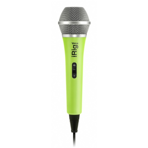 iRig Mic Voice - Green version - Handheld analogue microphone for iOS & Android