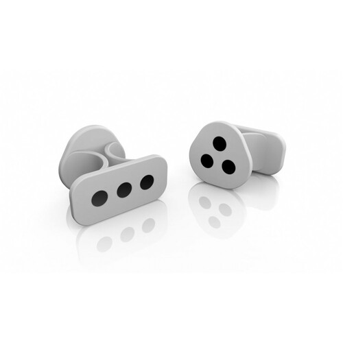iRing - Silver (Grey) version - Motion controller for iOS. Includes 2 rings - White