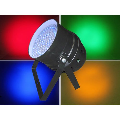 LED Par 64 RGB DMX 30W 183 LEDs - Black: Piggy Back Plug, double yoke, digital display