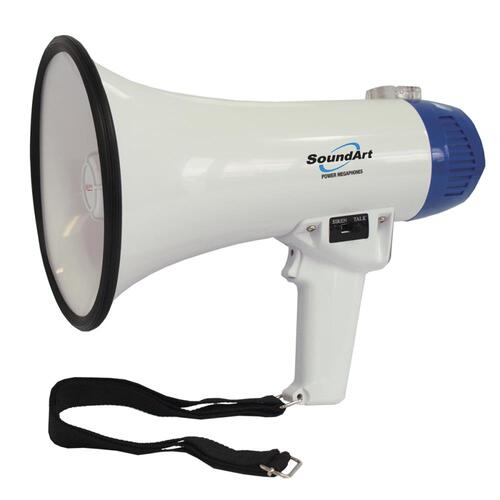 SoundArt 10 Watt Portable Hand-Held Megaphone (Blue)