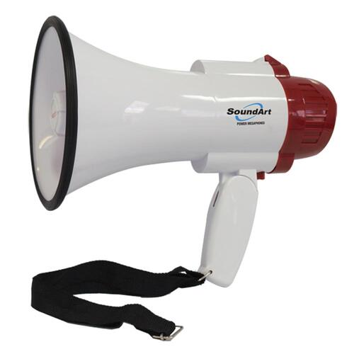 SoundArt 10 Watt Portable Hand-Held Megaphone with 10-Second Record/Playback